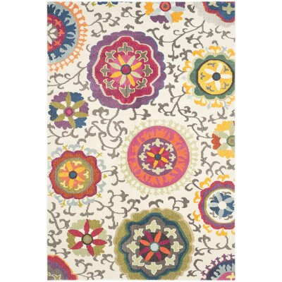 Chana Multi-Colored Area Rug Rug Size: 51 x 77