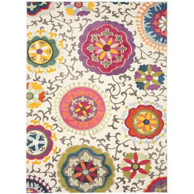 Chana Light Beige & Multi Area Rug Rug Size: 10' x 14'