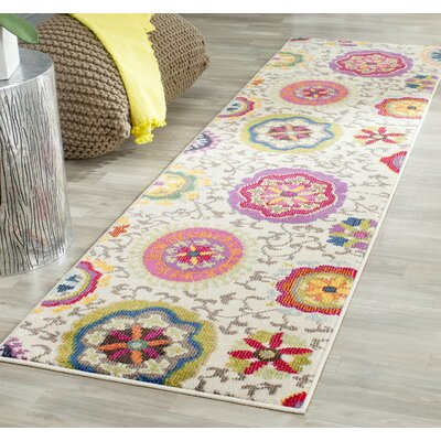 Chana Multi-Colored Area Rug Rug Size: Runner 22 x 8