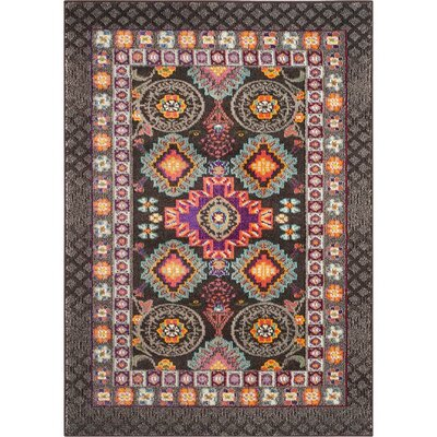 Elston Brown Area Rug Rug Size: 3 x 5