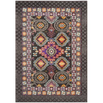 Elston Brown/Blue Area Rug Rug Size: Rectangle 4 x 57