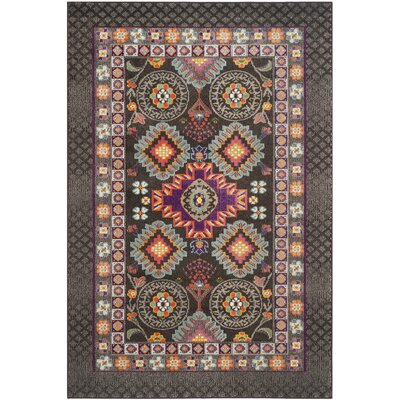 Elston Brown Area Rug Rug Size: 51 x 77