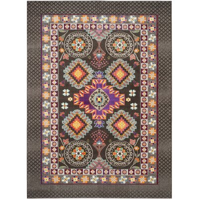 Elston Brown/Blue Area Rug Rug Size: Rectangle 8 x 11