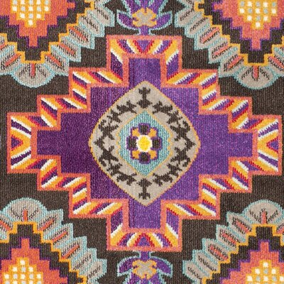 Elston Brown/Blue Area Rug Rug Size: Square 67