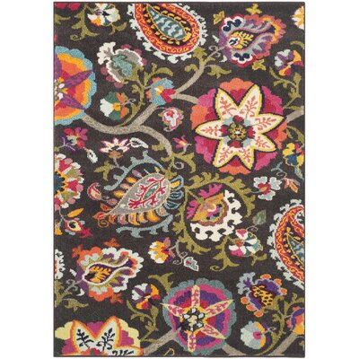 Chana Brown Area Rug Rug Size: 51 x 77