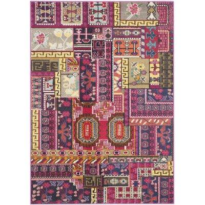 Chana Pink Area Rug Rug Size: 4 x 57
