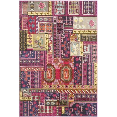 Chana Pink Area Rug Rug Size: Rectangle 9 x 12