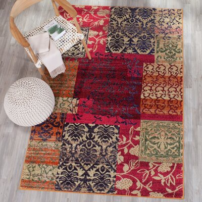 Ward Red Area Rug Rug Size: Rectangle 9 x 12