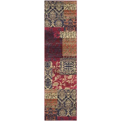 Ward Red Area Rug Rug Size: Runner 22 x 8