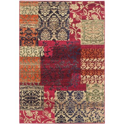 Chana Red Area Rug Rug Size: 4 x 57