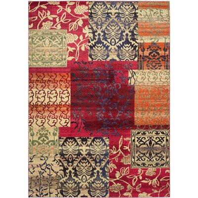 Chana Red Area Rug Rug Size: 8 x 11