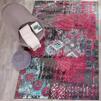 Chana Pink Area Rug Rug Size: Rectangle 51 x 77