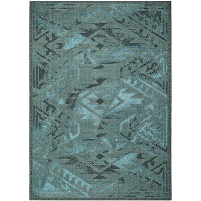 Port Laguerre Black & Turquoise Velvety Area Rug Rug Size: 8 x 11