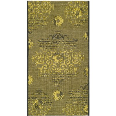 Port Laguerre Black/Green Area Rug Rug Size: Rectangle 2 x 36