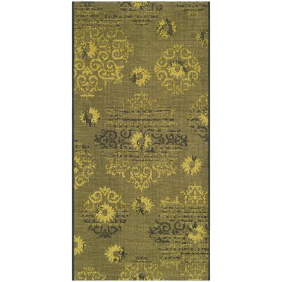 Port Laguerre Black/Green Area Rug Rug Size: Rectangle 3 x 5