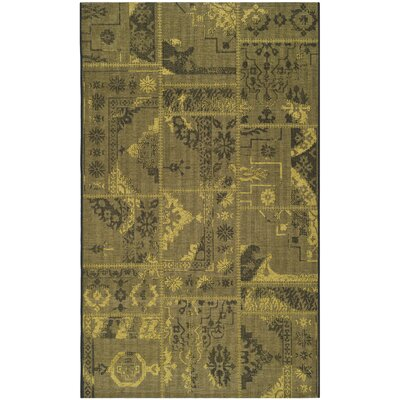 Port Laguerre Black/Green Velvety Area Rug Rug Size: Rectangle 8 x 11