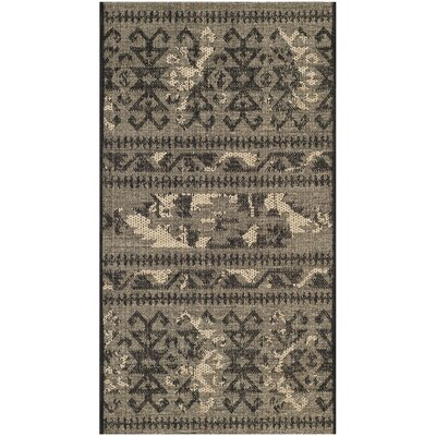 Port Laguerre Black/Gray Area Rug Rug Size: 3 x 5