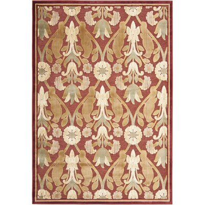 Saint-Michel Red Area Rug Rug Size: Rectangle 8 x 112