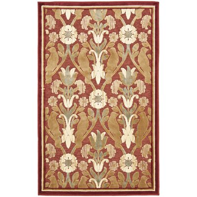 Saint-Michel Red Area Rug Rug Size: 8' x 11'2
