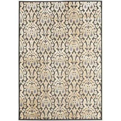 Saint-Michel Black/Gray Rug Size: Rectangle 76 x 106