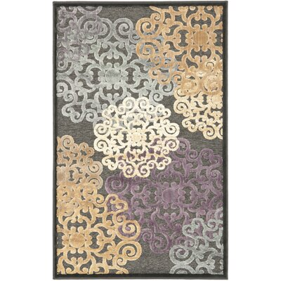 Saint-Michel Charcoal Wilton Rug Rug Size: Rectangle 27 x 4