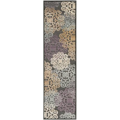 Saint-Michel Charcoal Wilton Rug Rug Size: Runner 2'2