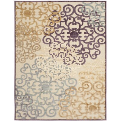 Saint-Michel Mauve Rug Rug Size: Rectangle 76 x 106