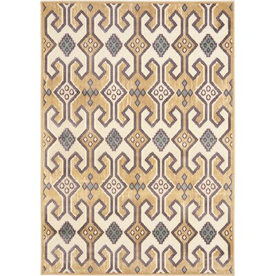Saint-Michel Gold/Beige Area Rug Rug Size: Rectangle 51 x 76