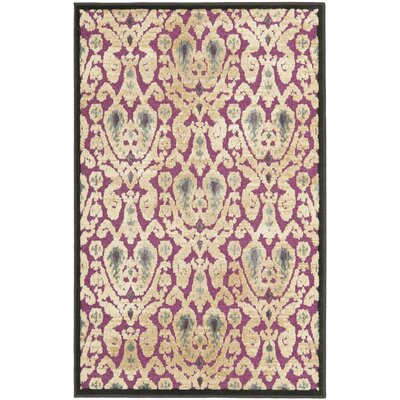 Saint-Michel Purple/Beige Area Rug Rug Size: Rectangle 27 x 4