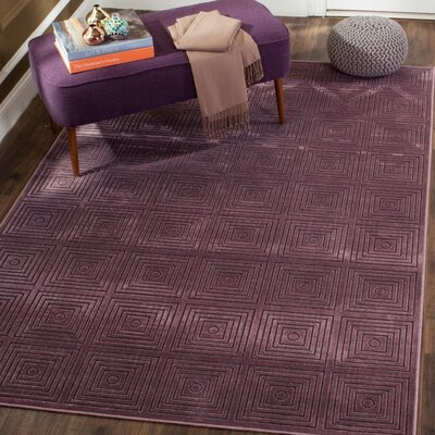 Saint-Michel Purple Wilton Area Rug Rug Size: 76 x 106