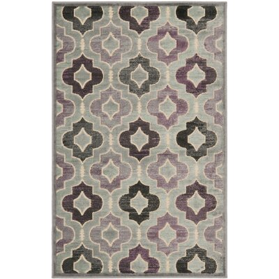 Saint-Michel Gray/Purple Area Rug Rug Size: Rectangle 27 x 4