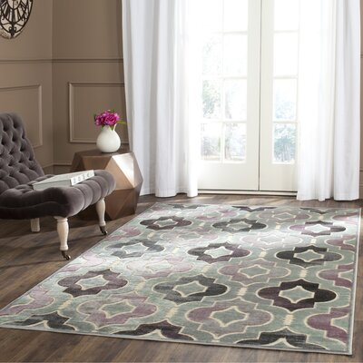 Saint-Michel Gray/Purple Area Rug Rug Size: Runner 25 x 76