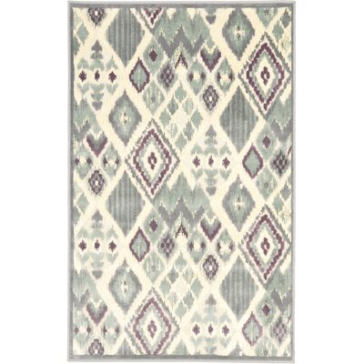 Saint-Michel Gray/Beige Area Rug Rug Size: Rectangle 27 x 4