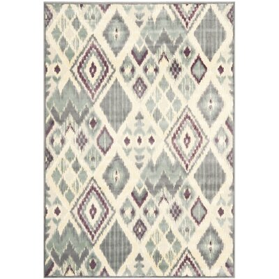 Saint-Michel Grey Rug Rug Size: 53 x 76