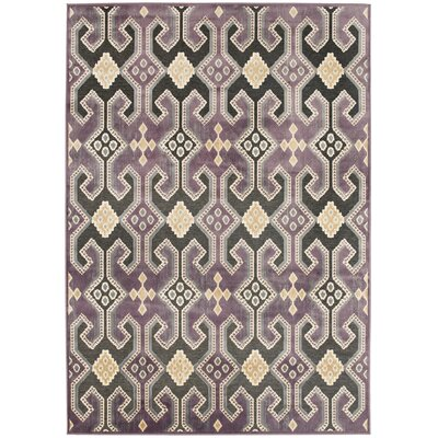 Saint-Michel Purple Floral Area Rug Rug Size: 53 x 76