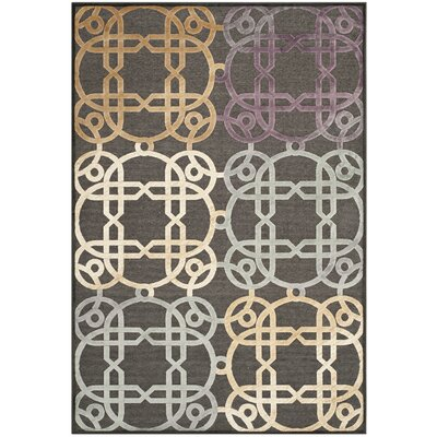Saint-Michel Charcoal Rug Rug Size: Rectangle 76 x 106