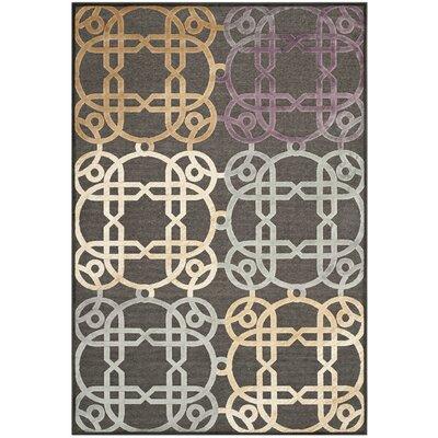 Saint-Michel Charcoal Rug Rug Size: 76 x 106