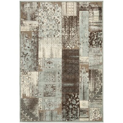 Saint-Michel Light Blue/Anthracite Area Rug Rug Size: Rectangle 8 x 112