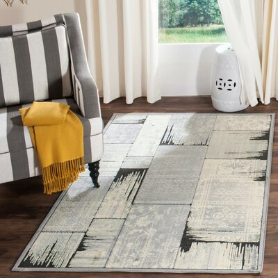 Saint-Michel Gray/Anthracite Area Rug Rug Size: Rectangle 53 x 76