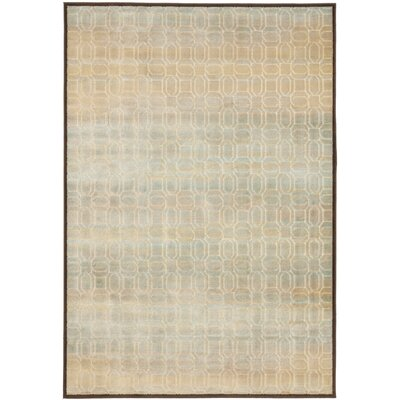Saint-Michel Creme/Brown Rug Rug Size: 27 x 4