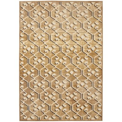 Saint-Michel Taupe Area Rug Rug Size: 53 x 76