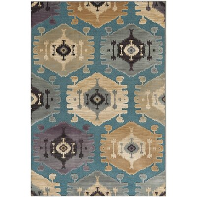 Saint-Michel Gray Area Rug Rug Size: 76 x 106