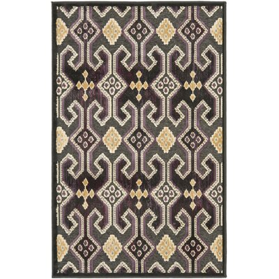 Saint-Michel Anthracite/Anthracite Area Rug Rug Size: Rectangle 27 x 4