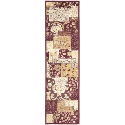 Saint-Michel Red Area Rug Rug Size: Runner 22 x 8