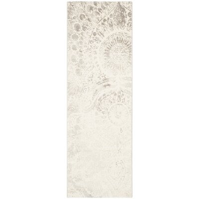 Hobscheid Light Grey / Ivory Contemporary Rug Rug Size: Runner 24 x 67