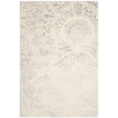 Hobscheid Light Grey / Ivory Contemporary Rug Rug Size: 53 x 77