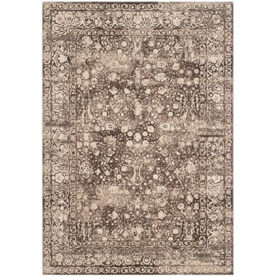 Watts Brown/Cream Area Rug Rug Size: Rectangle 23 x 39
