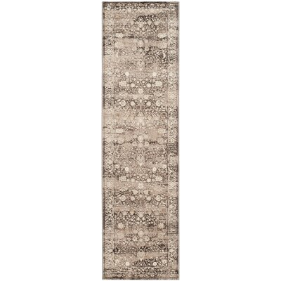 Watts Brown/Cream Area Rug Rug Size: Runner 23 x 8