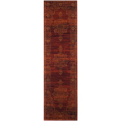 Watts Red Area Rug Rug Size: Runner 23 x 8