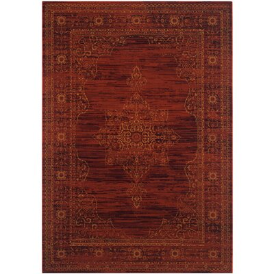 Zennia Red Area Rug Rug Size: 6 x 9